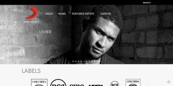 Die offizielle Sony Music Seite.