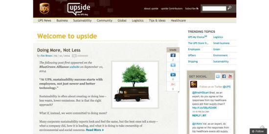 Der offizielle UPS-Blog
