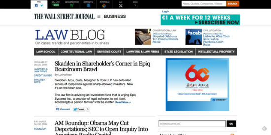 Der Law-Blog des Wall Street Journal