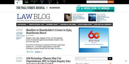 Der Law-Blog des Wall Street Journal