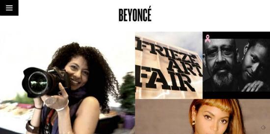 Die offizielle Webseite von Beyoncé.