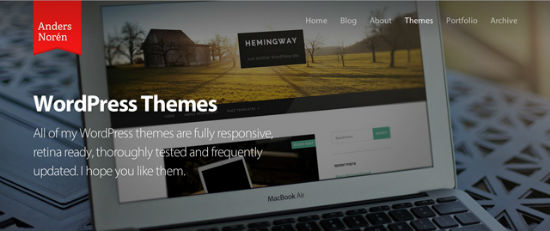 Die WordPress Themes des Anders Norén.