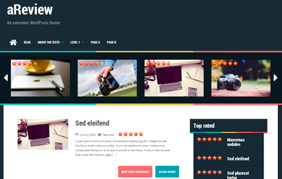 Areview wordpress themes