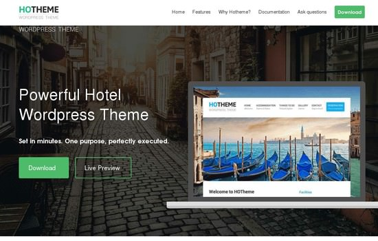 Hotheme: powerful hotel wordpress theme