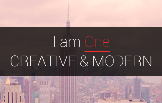 I am one wordpress theme