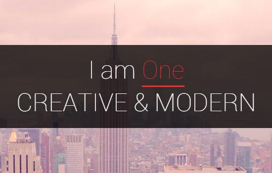 I am one wordpress theme