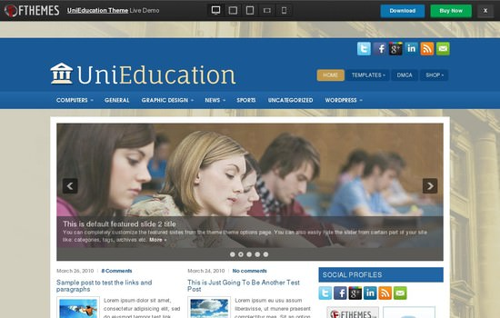 Unieducation theme demo