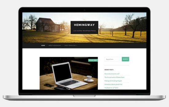 Das Hemingway Theme für WordPress.
