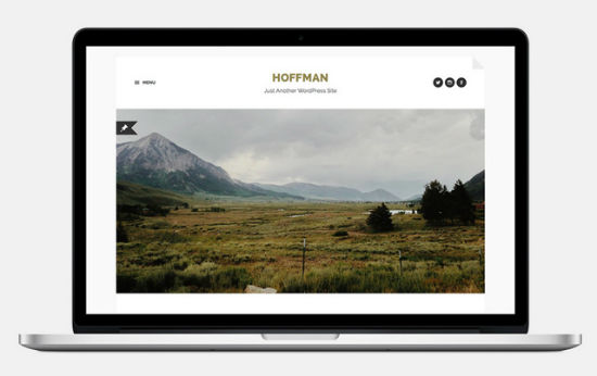 Das Hoffman WordPress Theme