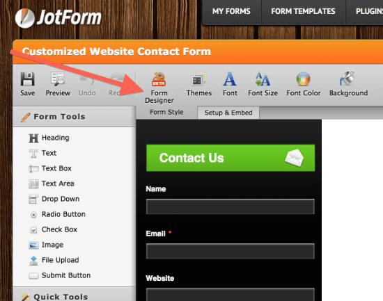 jotform-formdesigner-integration