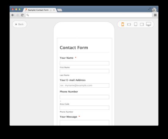 jotform-responsive forms
