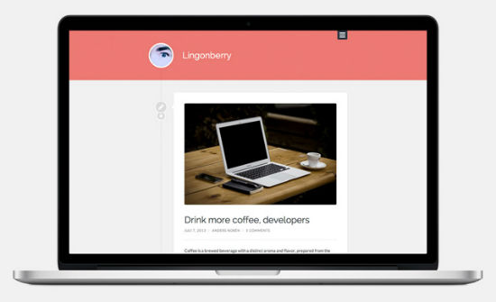 Ligonberry Theme for WordPress