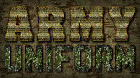 Military Text Effects - Might and Metal