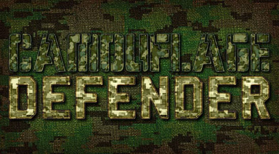 Camoflauge Text Effects