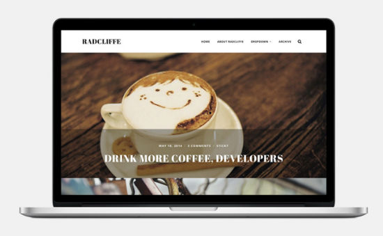 Radcliffe theme for WordPress