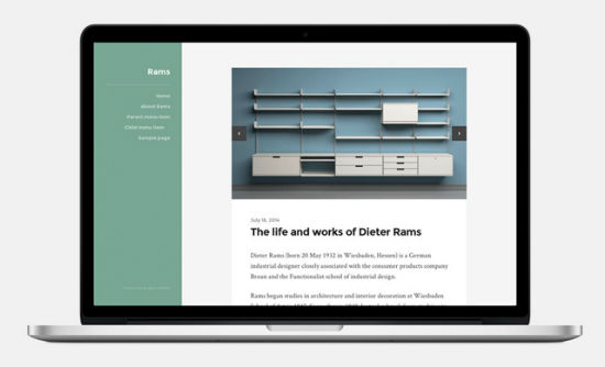 Das Rams WordPress Theme