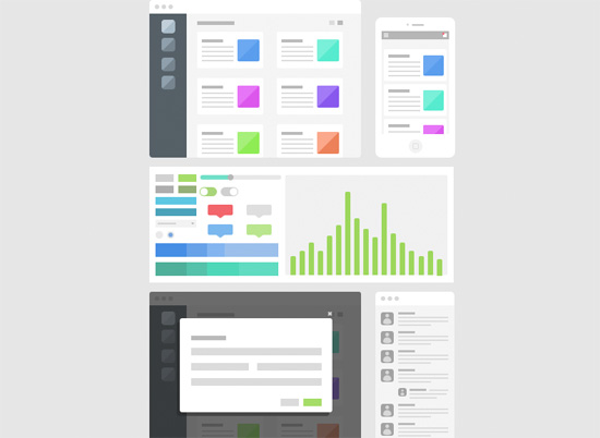 quick not dirty 30 free wireframe style uis mockups and templates