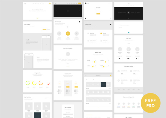 Quick, Not Dirty: 30 Free Wireframe Style UIs, Mockups And Templates