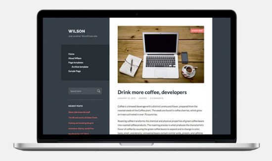 Wilson Theme for WordPress.