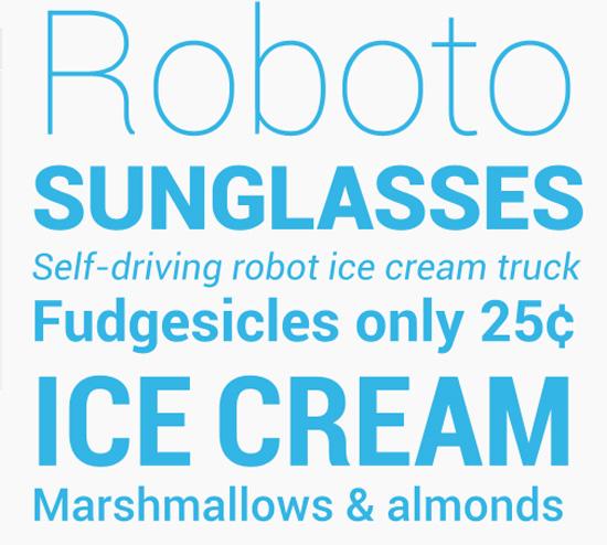 Android custom font: Roboto