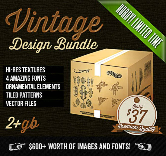 Deal of the Week: The Colossal Vintage Design Bundle Discounted 94 Percent