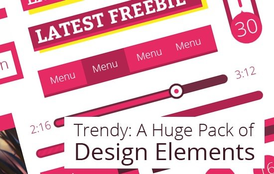 trendy-psd-gui-html-and-bootstrap-template-icons-pack