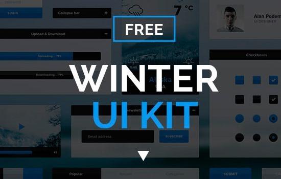 winter-ui-kit-free-psd-on-behance