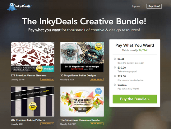 45dcb7110 Pay What You Want for Thousands of Premium Resources in InkyDeals ...