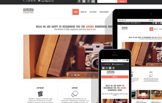 wordpress-avrora-free-wordpress-themes