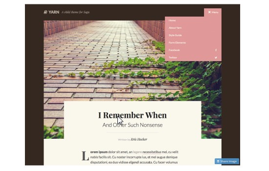 yarn-wordpress-theme