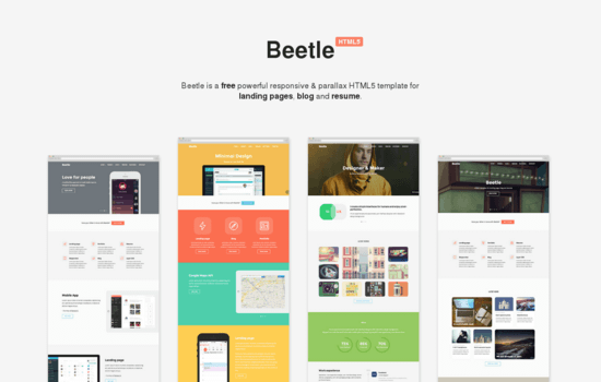 20+ Fresh Free Templates in HTML/CSS and PSD: December 2014 Edition
