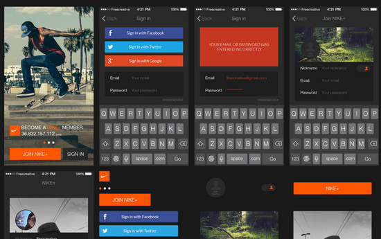 dark and bright ui