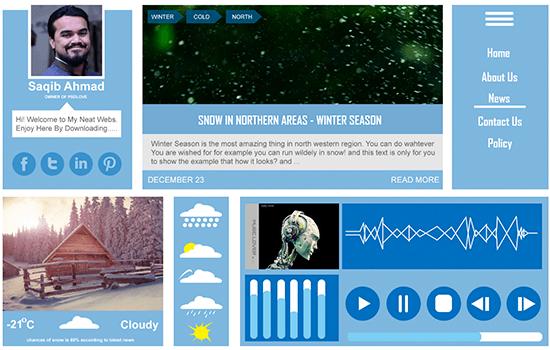 Winter UI Kit 2015