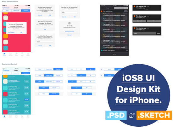 ios8 ui kit
