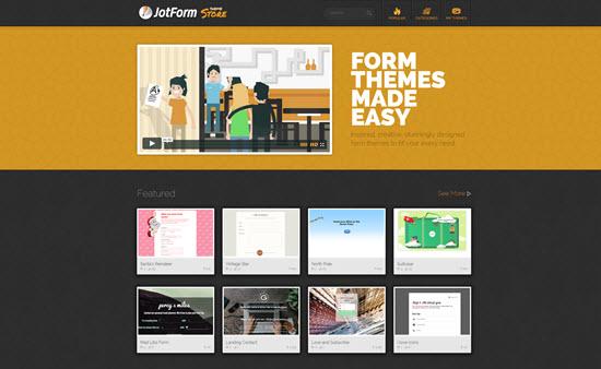 JotForm's Theme Store |  Landing Page
