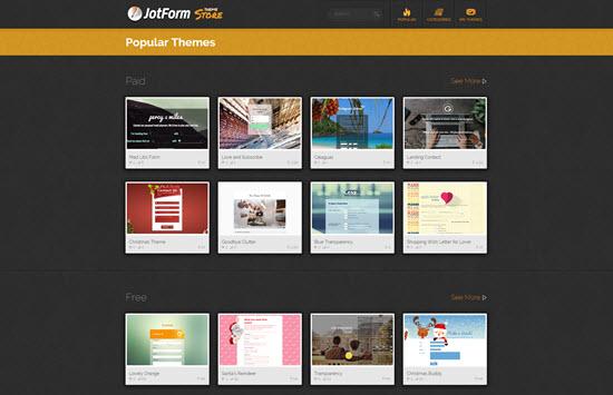 JotForm Theme Store | Popular Themes