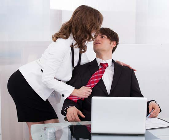 Sensuous Secretary Seducing Boss At Desk
