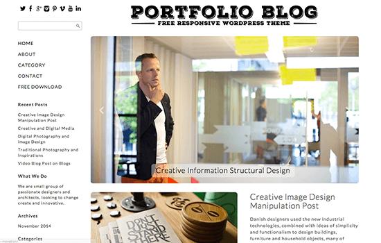 Portfolio Blog Responsive Theme