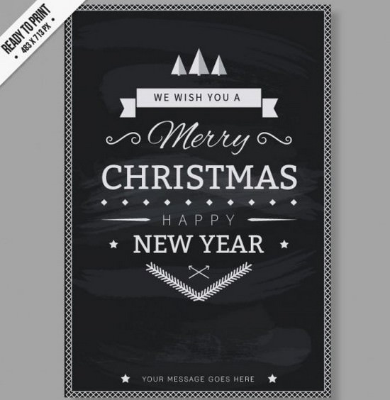 The Right Mood #2: 25+ Free Christmas Cards, Flyers, Tags and Printables 2014