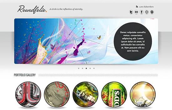 Roundfolio: One Page Portfolio Template