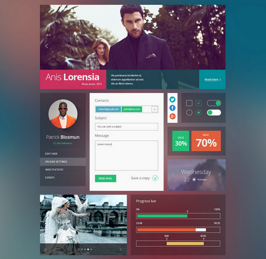 transparent ui psd