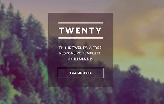Twenty: A Sweet, Minimal HTML Template