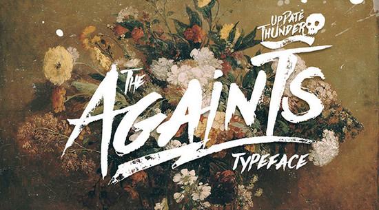 against typeface