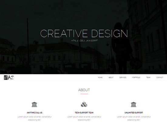 free responsive simple one page agency theme