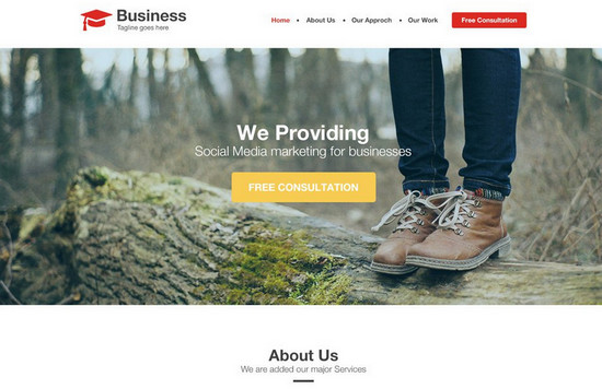 100 best free psd website templates of 2014 noupe agency business website template psd agnecy template wajeb Choice Image