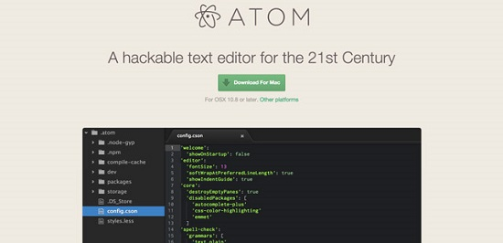 Atom io: (Free) HTML Editor for the 21st Century or Copy-Cat