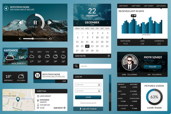 dark blue ui