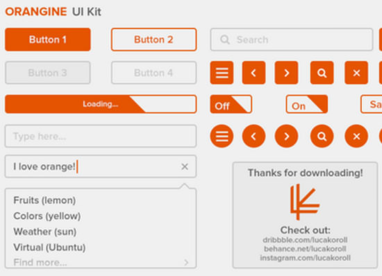 orange ui kit
