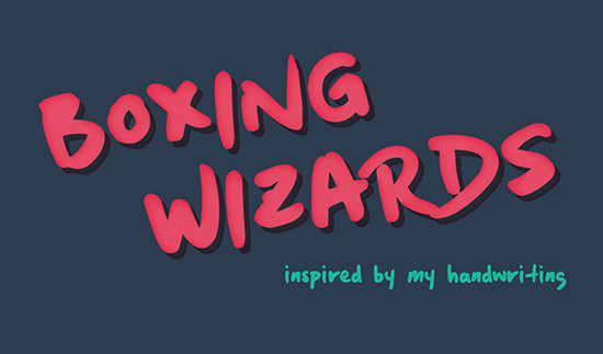 boxing wizards typeface