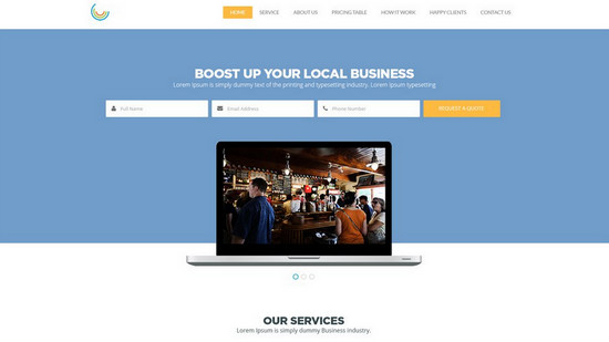 100 best free psd website templates of 2014 noupe business web template psd business layout wajeb Choice Image